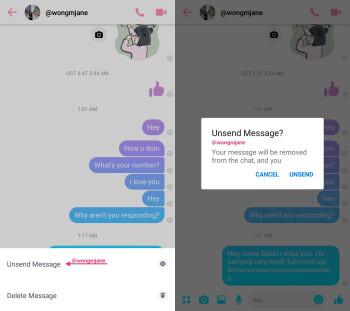 Facebook Messenger soon to add option to Unsend messages