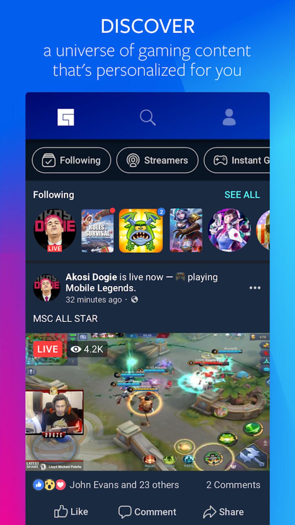 Facebook startet Beta-Version von Gaming-Hub auf Android-Geräten