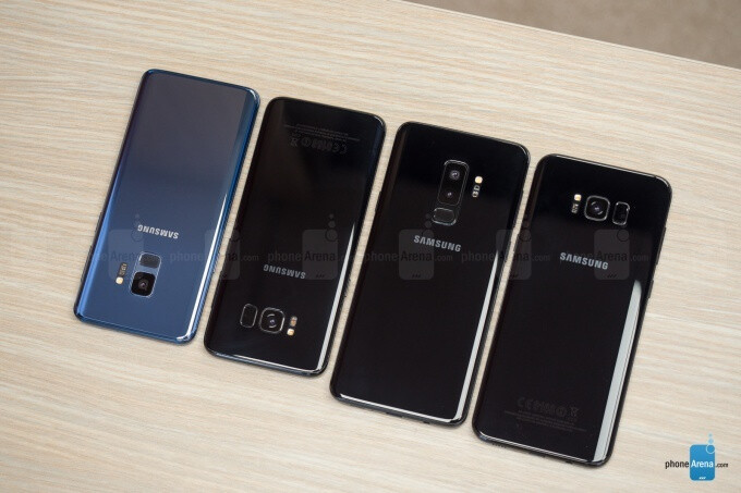 Left to right - the Samsung Galaxy S9, Galaxy S8, Galaxy S9+, and Galaxy S8+ - Samsung Galaxy S10 predictions - what's reasonable to expect and what's probably not happening