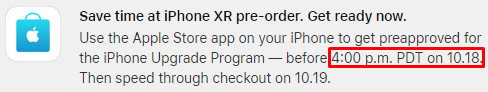 Apple's iPhone XR pre-order approvals are now live for Upgrade Program members