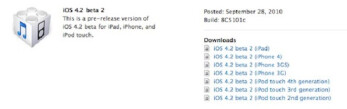 Developers get a second tasting with iOS 4.2 beta 2