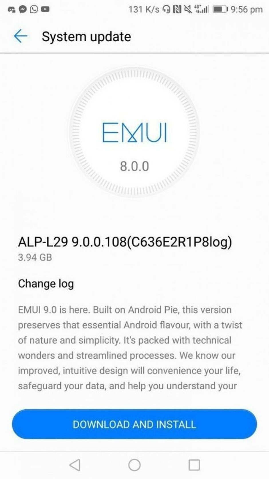 Huawei Mate 10 starts receiving Android 9 Pie update, huge download size