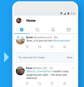 You no longer have to view a Tweet that you've reported to Twitter