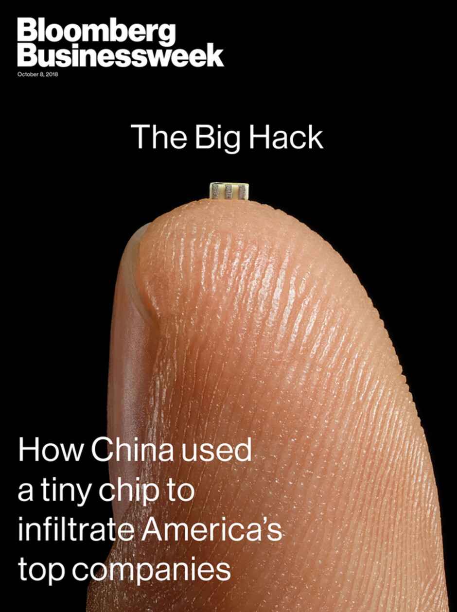 """The original Bloomberg report was the cover story for the October 8th edition of Businessweek - Apple CEO Cook says Bloomberg needs to """"do the right thing"""" and publicly retract its spy chip story"""