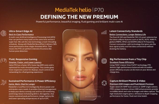 MediaTek Helio P70 SoC brings great energy efficiency, improved AI processing to mid-range phones