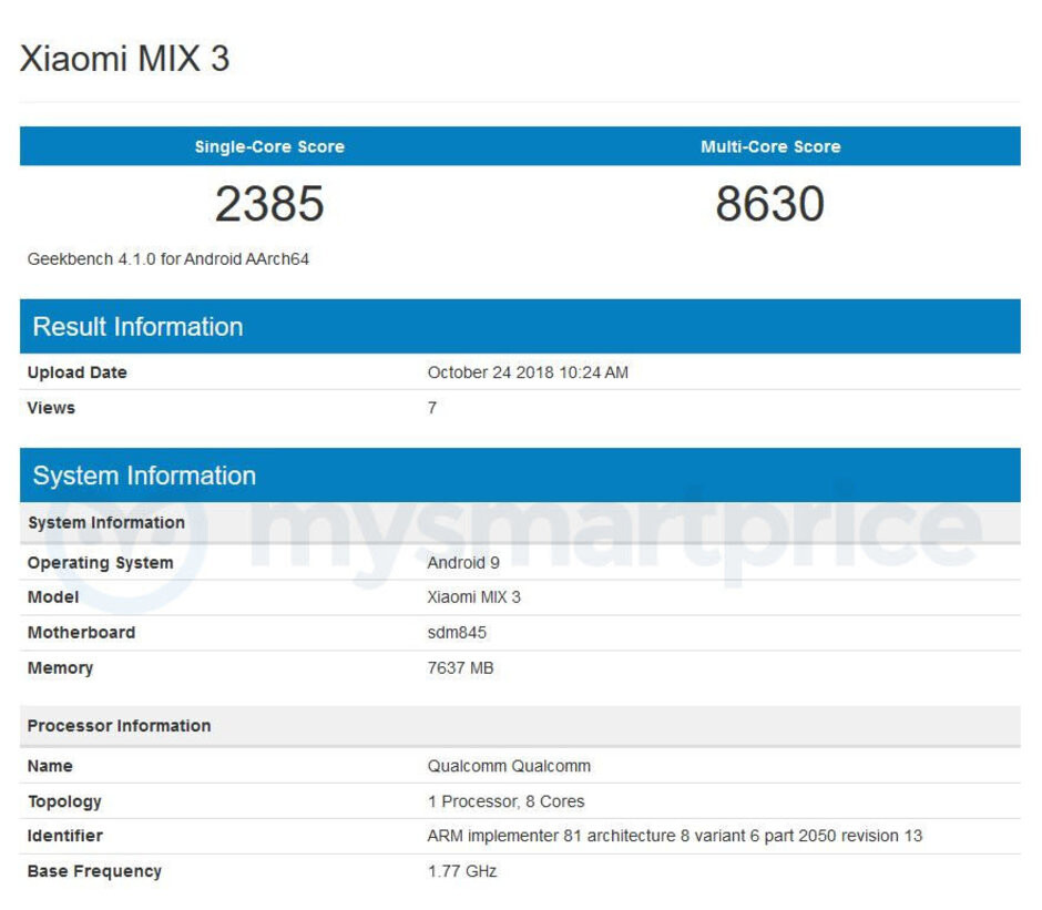 Mi Mix 3 benchmark nips the Snapdragon 855 rumor, but green and 'Forbidden City' versions are in store