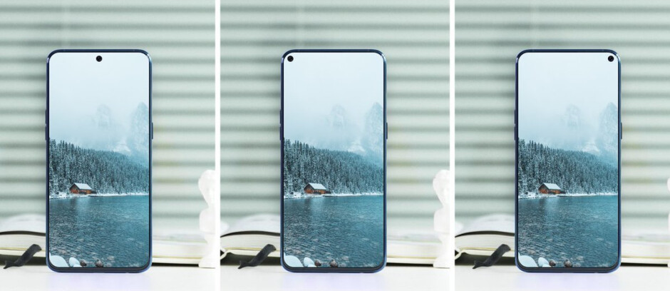 Samsung Galaxy A8s concept - Samsung teases the Galaxy A8s with bezel-less design and hole in the display