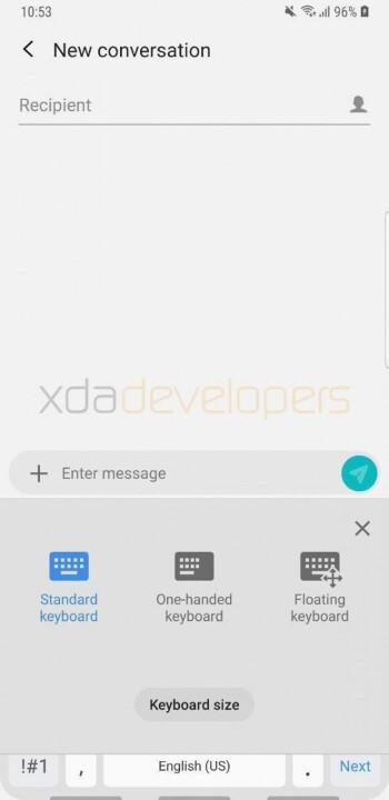 Samsungs Tastatur-App für Android-Geräte erhält einen Floating-Modus