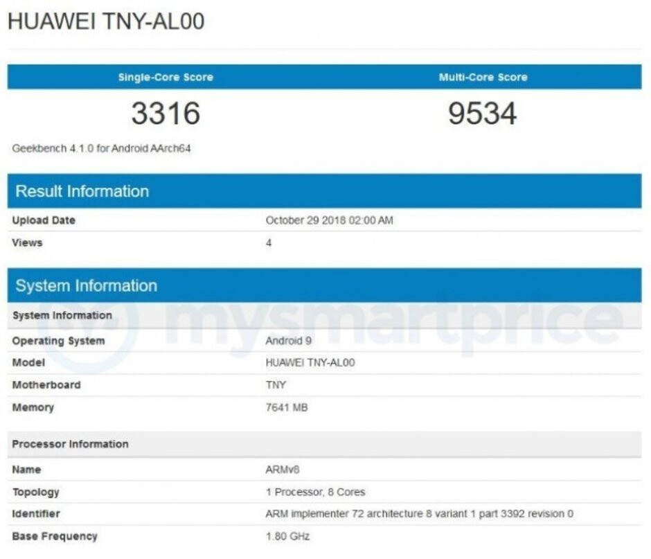 Honor Magic 2 gets benchmarked with 7nm Kirin 980 chip and 8GB RAM