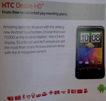Vodafone UK joins the bunch in offering the HTC Desire HD very soon