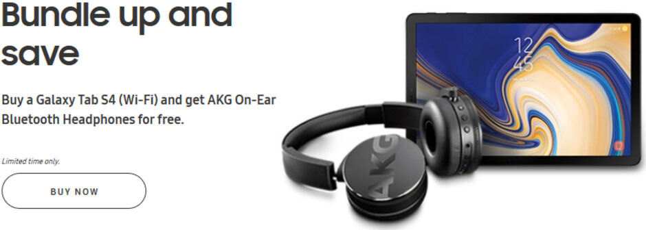 Deal: Samsung Galaxy Tab S4 now comes with free AKG Bluetooth headphones ($180 value)