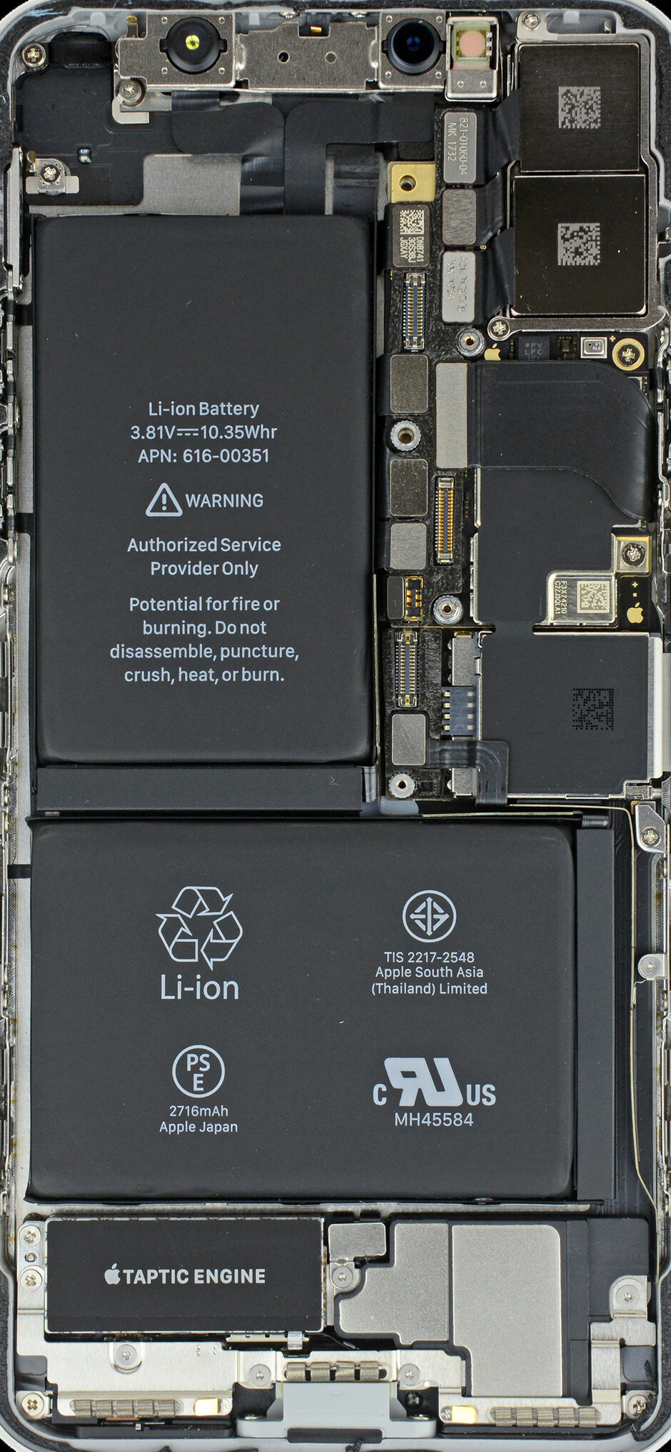 The iPhone X battery - With the iOS 12.1 update, Apple's processor throttling comes to the iPhone 8/Plus and X