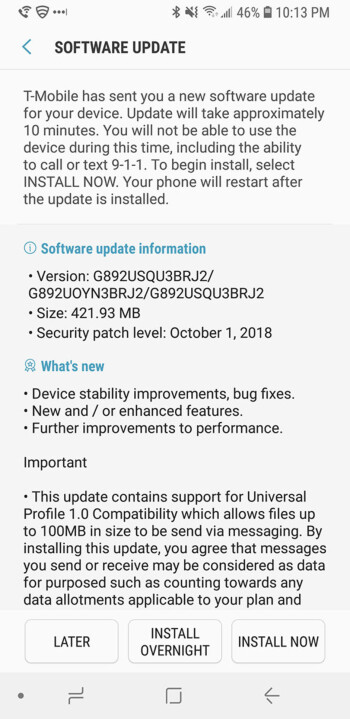 T-Mobile rolls out RCS Universal Profile 1 0 support to the Samsung