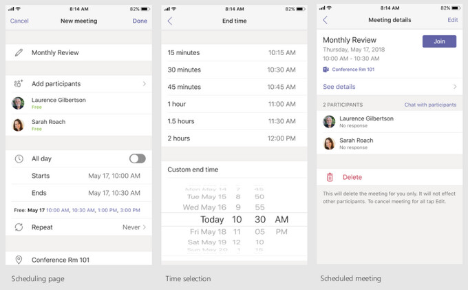 All sorts of options are available for your meeting needs - Microsoft Teams mobile app gets new features, helps you unwind