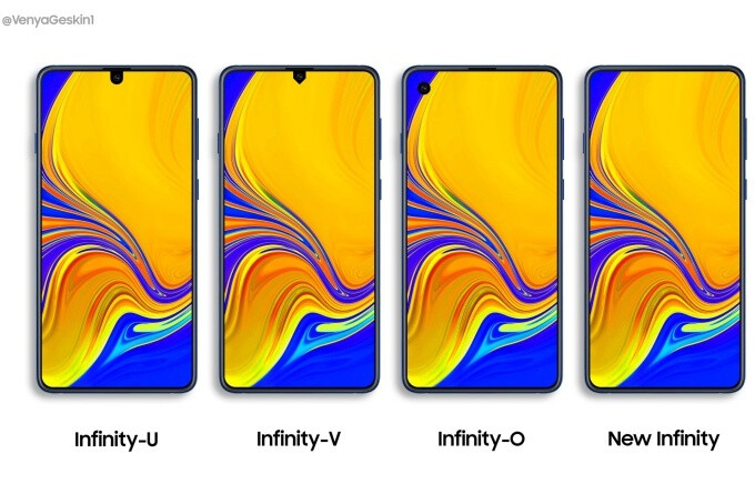 Concept design by Ben Geskin - Samsung's Galaxy A70 and Galaxy A90 could beat the Galaxy S10 to the 'new Infinity' punch