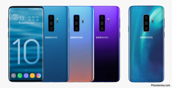 This is what the Galaxy S10 could look like: truly bezel-less with an under-display camera