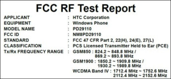 Two HTC Windows Phone 7 handsets clear the FCC