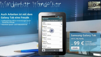 O2 Germany reveals their €759 price for the Samsung Galaxy Tab