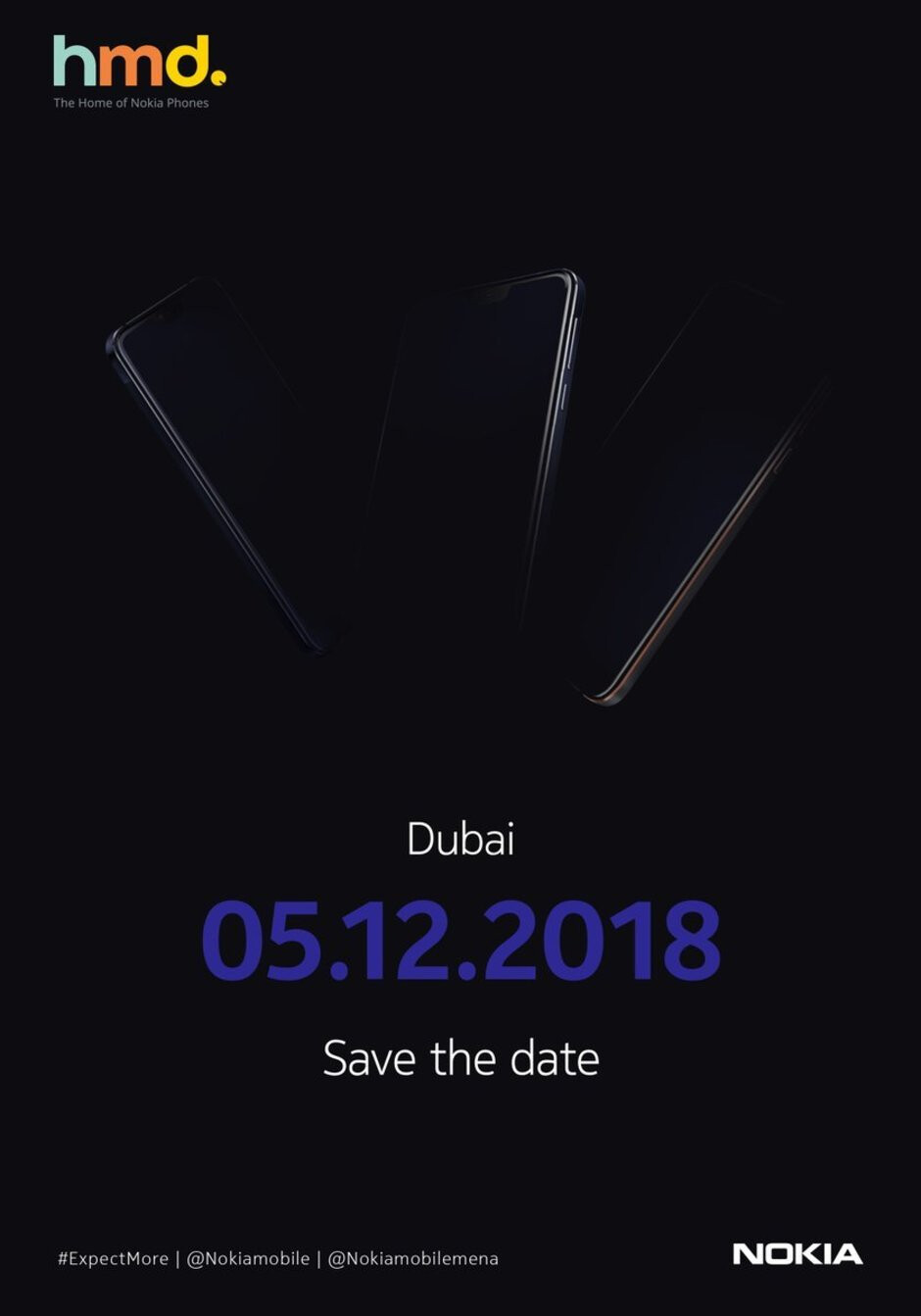 Nokia teases December 5 event in Dubai; could unveil the Nokia 8.1