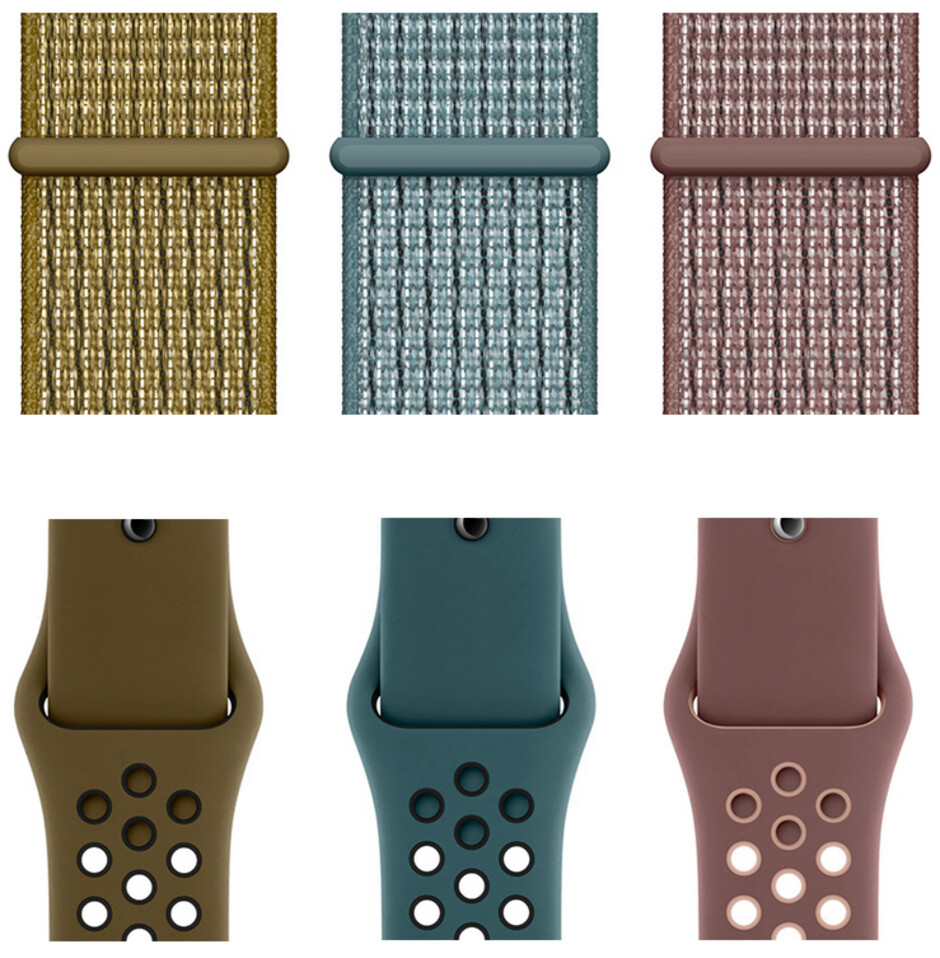 New Nike+ Sport Loops and Sport Bands, Olive Flak, Celestial Teal and Smokey Mauve - Nike unveils new Sports Bands and Sports Loops for the Apple Watch