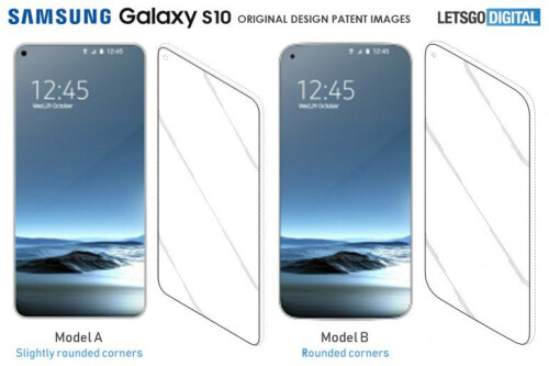 Samsung Infinity-O display panel leak and corresponding patents