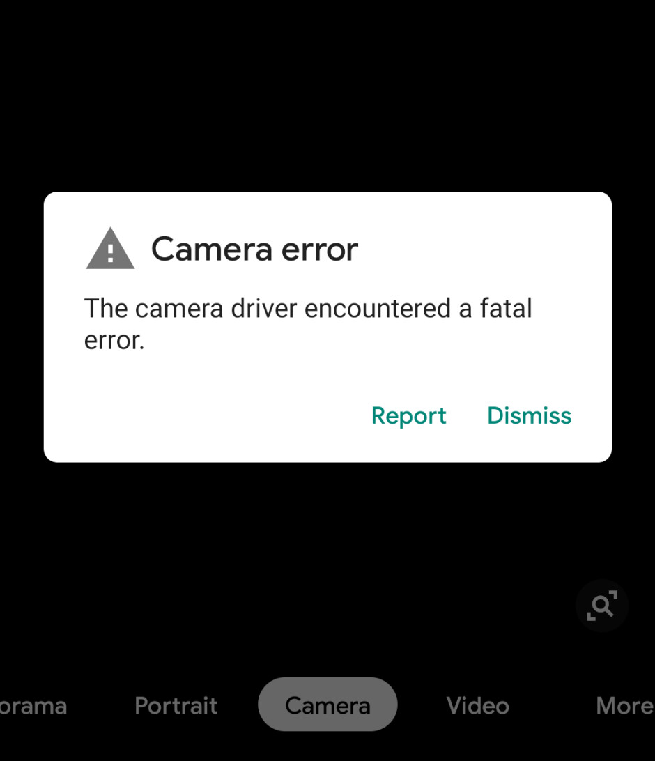 Google Pixel users can't use the phone's camera after receiving an error message