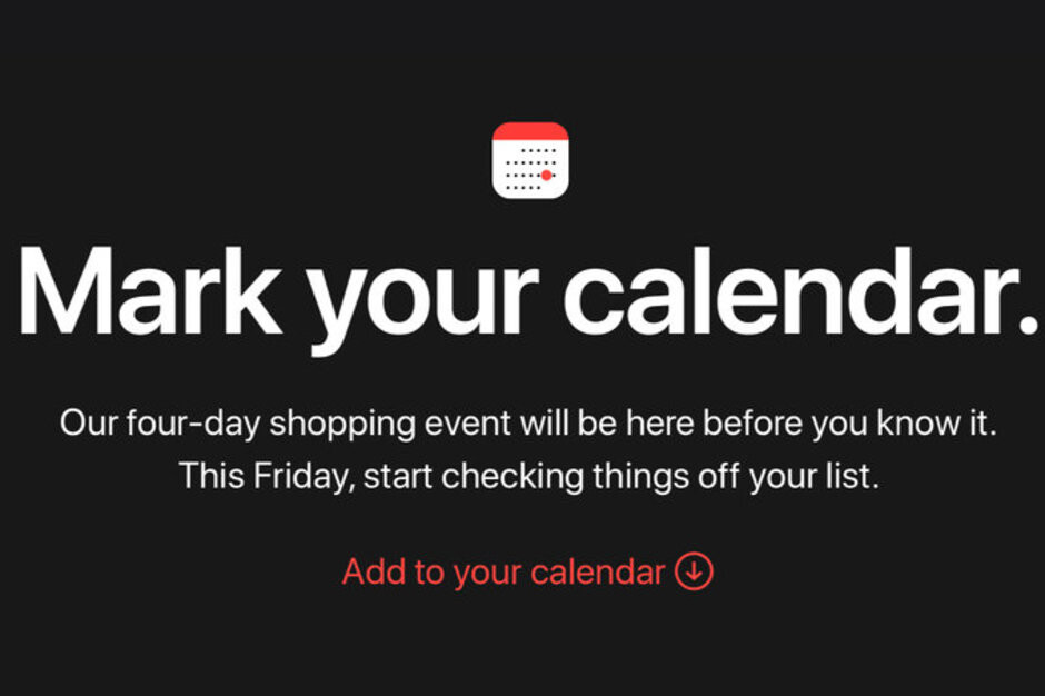 Apple confirms four-day Black Friday and Cyber Monday shopping event