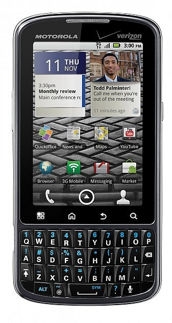 The Motorola DROID Pro is designed for the businessman on the go