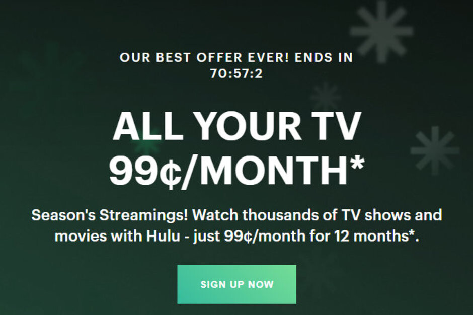 Black Friday deal: Hulu offers one year of subscription for only $1 per month