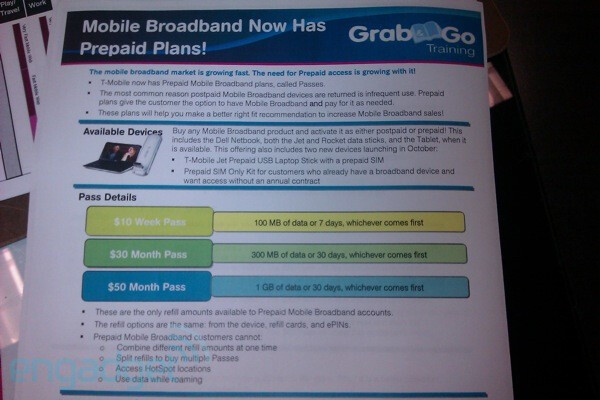 T-Mobile prepaid broadband plans leak