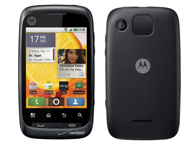 First time smartphone users should find the Motorola CITRUS easy to use - Motorola CITRUS announced for entry-level smartphone users