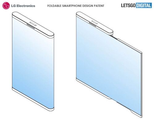 LG foldable smartphone with borderless design patent