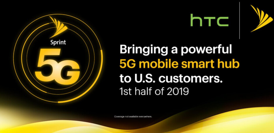 """Sprint and HTC will launch a """"5G mobile smart hub"""" in early 2019"""