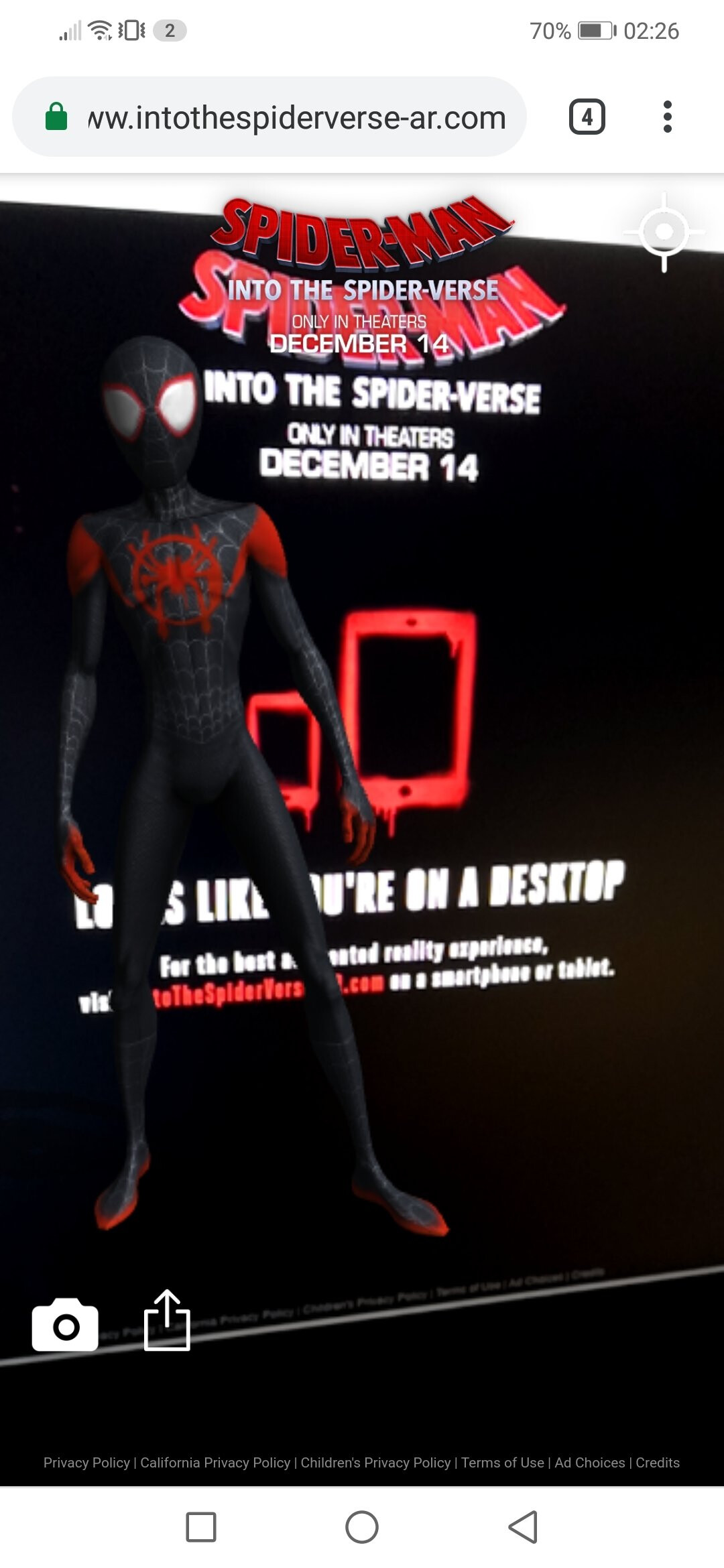 Sony Launches Spider Man Into The Spider Verse Mobile Ar Experience