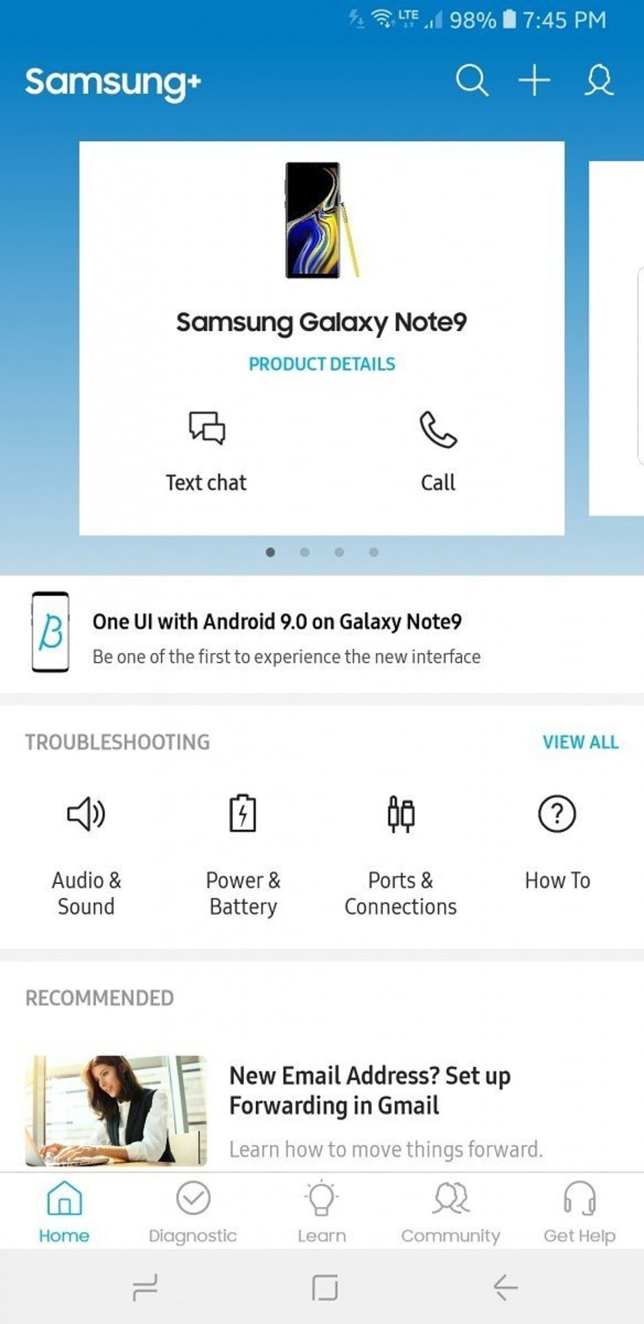 Samsung opens One UI beta program to Galaxy Note 9 users in the U.S.