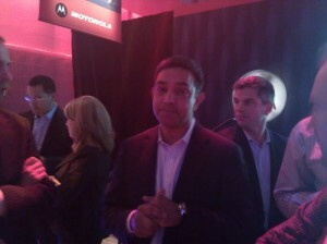 CEO Sanjay Jha at last night's press event - Sanjay Jha confirms Tegra 2 Motorola handset?