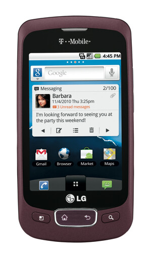 The LG Optimus T is an entry-level device