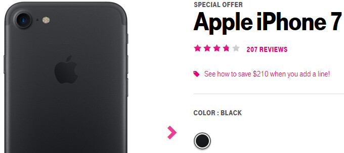 Deal: Buy a T-Mobile iPhone 7 for just $239.99