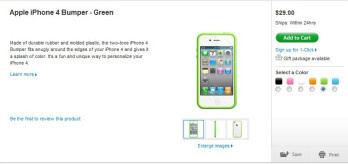You can once again buy an iPhone 4 bumper case for $29.99