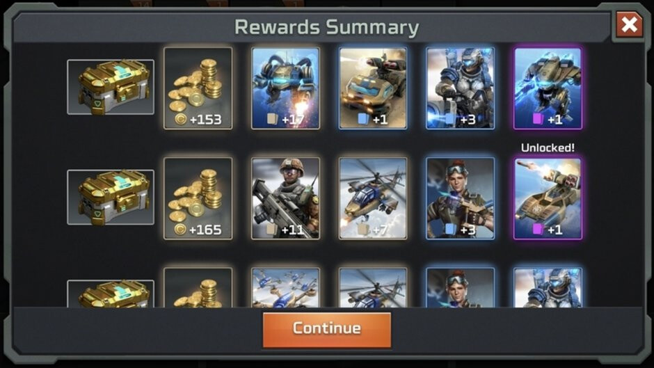 Collecting cards from crate drops - Command & Conquer Rivals review: is it a good strategy game for phones or a disgrace to the C&C series?