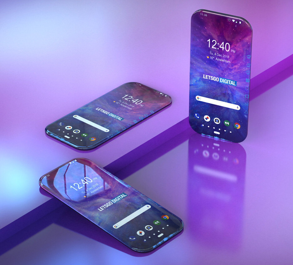 3D renders based on the patent's schematics - Samsung's newest smartphone patent offers a glimpse into the not so distant future
