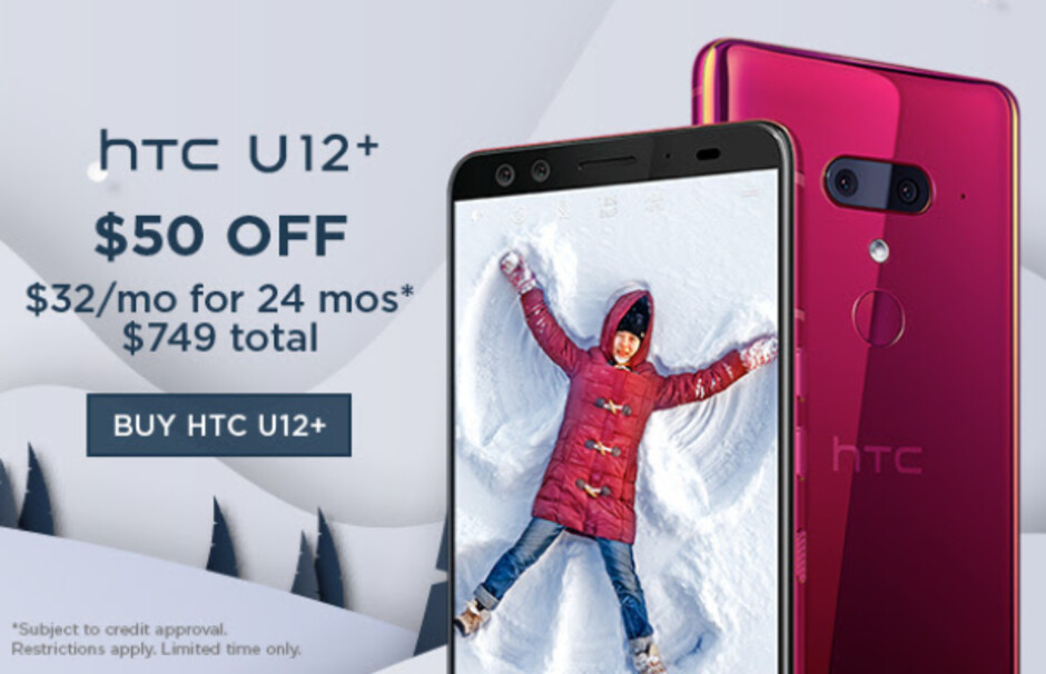 Save $50 on the HTC U12+ - For a limited time, HTC will take up to $150 off select models