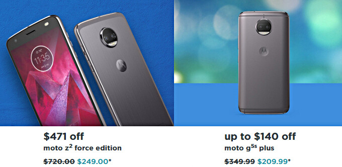 New Motorola deals: Moto Z2 Force and Moto G5S Plus get huge price cuts
