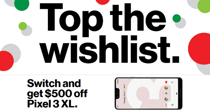 Verizon Holiday Deals: Google Pixel 3, Moto Z3, iPhone 6s, and other devices get price cuts
