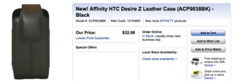 HTC Desire Z case available at Best Buy