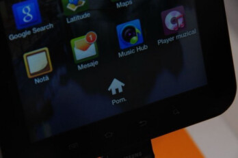 Romanian version of the Samsung Galaxy Tab is left with a �Porn� button