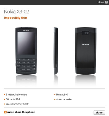 Orange UK follows suit in offering the Nokia X3-02 Touch and Type