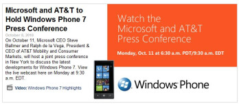Windows Phone 7 launch event will be webcasted online so you'll have the best seat
