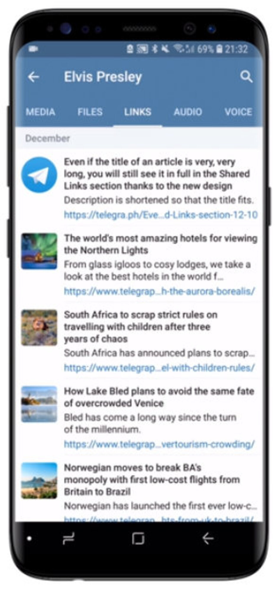New design for Android - Telegram version 5.0 released with new design, new features galore