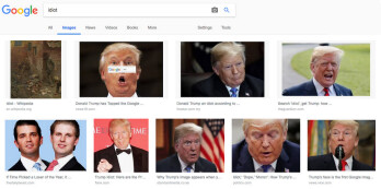 Making an image search for idiot came back with these results earlier today
